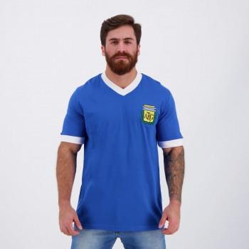 Camisa Argentina Retrô Nº 10 Azul