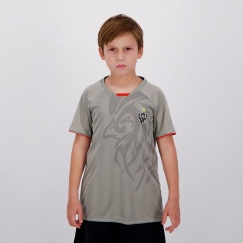 Camisa Atlético Mineiro Insight Infantil Cinza