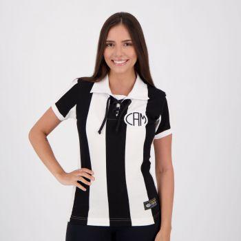 Camisa Atlético Mineiro Retrô 1914 Cordinha Feminina