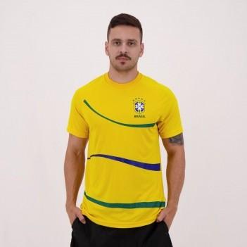 Camisa Brasil CBF Big Waves Amarela