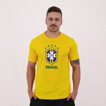 Camisa Brasil CBF Logo Amarela