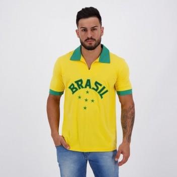 Camisa Brasil Retrô 1952 Amarela