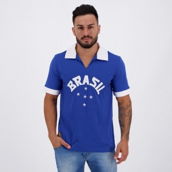 Camisa Brasil Retrô 1952 Azul