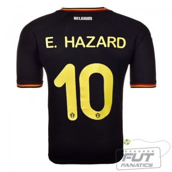 Camisa Burrda Bélgica Away 2014 10 E.Hazard Matchday