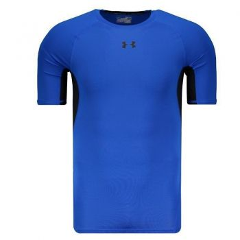 Camisa Compressão Under Armour Heatgear Azul