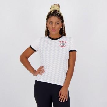 Camisa Corinthians Estado Feminina Branca