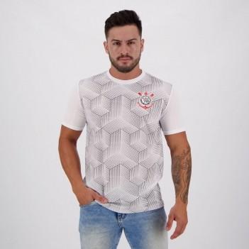 Camisa Corinthians Jacquard Cubos Branca
