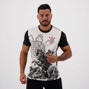 Camisa Corinthians São Jorge Branca e Preta