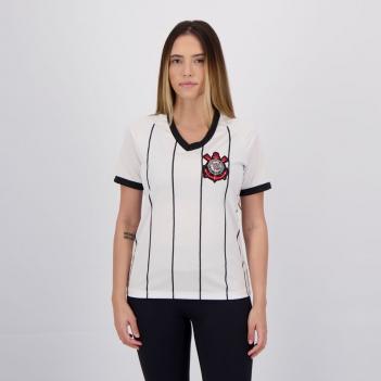Camisa Corinthians Stripe Feminina Branca