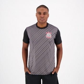 Camisa Corinthians Stroke SCCP Preta e Chumbo
