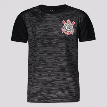 Camisa Corinthians Sublime Infantil Preta e Chumbo