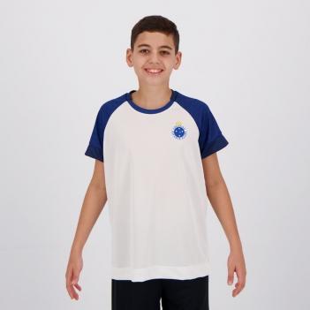 Camisa Cruzeiro Cell Infantil Branca e Azul