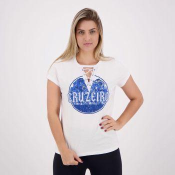 Camisa Cruzeiro Metal Feminina Branca