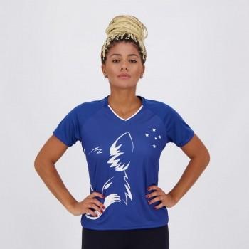 Camisa Cruzeiro Shield Feminina Azul