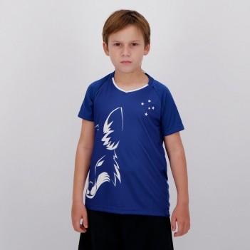 Camisa Cruzeiro Shield Infantil Azul