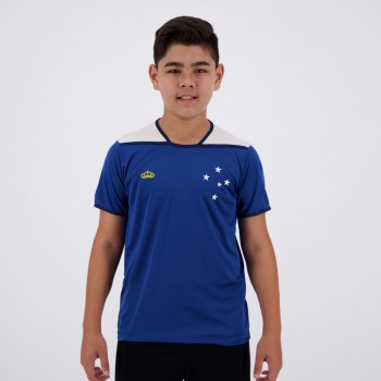 Camisa Cruzeiro Up Infantil Azul e Branca