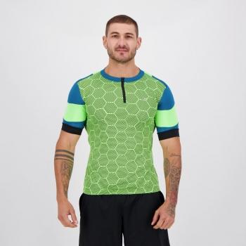 Camisa de Ciclismo Poker Nimble Verde e Azul