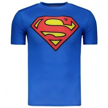 Camisa de Compressão Under Armour Superman Azul