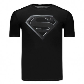 Camisa de Compressão Under Armour Superman Preta