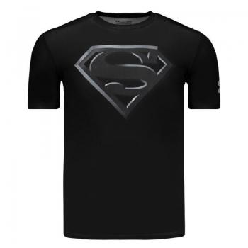 Camisa de Compressão Under Armour Superman Preta