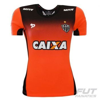 Camisa Dryworld Atlético Mineiro Treino 2016 Atleta Feminina