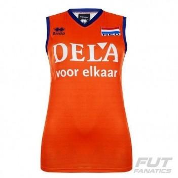 Camisa Errea Holanda Volêi Home 2016 Feminina