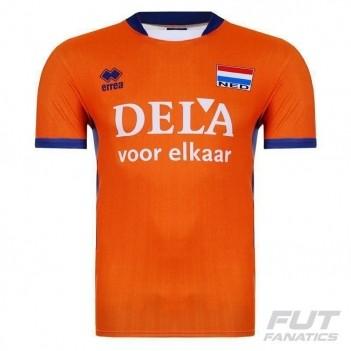 Camisa Errea Holanda Vôlei Home 2016