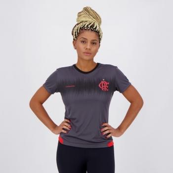 Camisa Flamengo Contact Feminina Chumbo