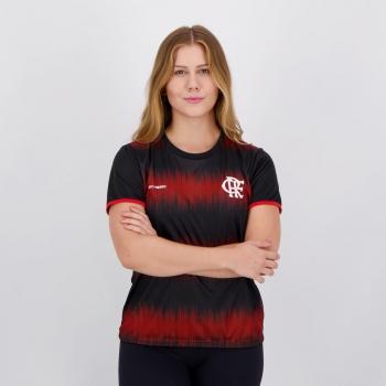 Camisa Flamengo Part Feminina Preta