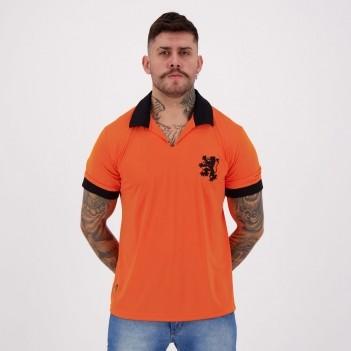 Camisa Holanda Retrô N°14 Laranja