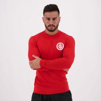 Camisa Internacional Proteção UV Manga Longa Vermelha