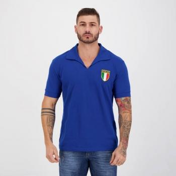 Camisa Itália Retrô 1982 Azul