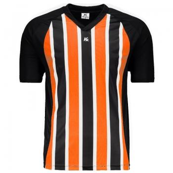 Camisa Kanxa Pop Clip Preta e Laranja