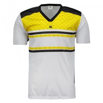 Camisa Kanxa Pop Veti Branca e Amarela
