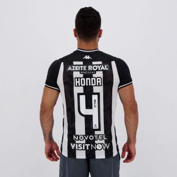 Camisa Kappa Botafogo I 2019 4 Honda com Patrocínio