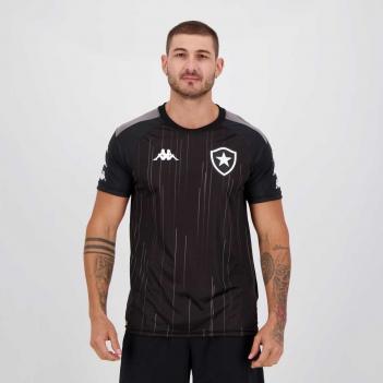 Camisa Kappa Botafogo Treino 2021 Preta