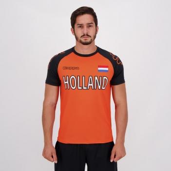 Camisa Kappa Holanda Laranja e Preta