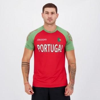 Camisa Kappa Portugal Sport Vermelha e Verde
