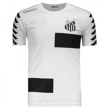 Camisa Kappa Santos Treino 2017 Branca