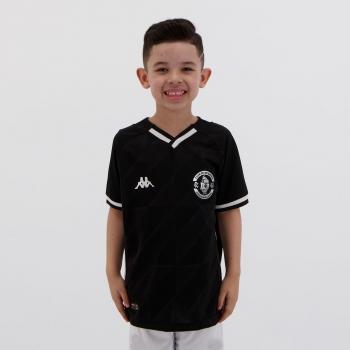 Camisa Kappa Vasco III 2021 Infantil