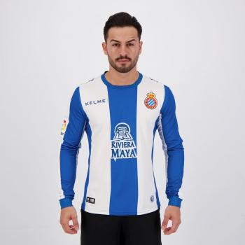Camisa Kelme Espanyol Home 2019 Manga Longa