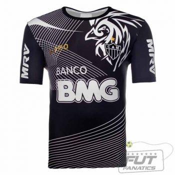 Camisa Lupo Atlético Mineiro Treino 2013 Preto
