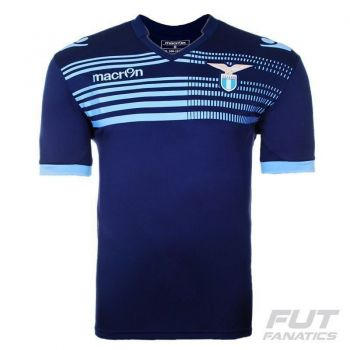 Camisa Macron Lazio Treino 2015 Marinho