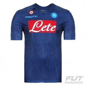 Camisa Macron Napoli Away 2015 Denim