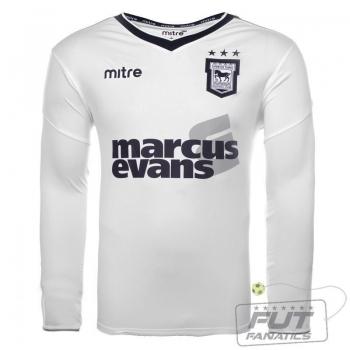 Camisa Mitre Ipswich Town Away 2013 Manga Longa