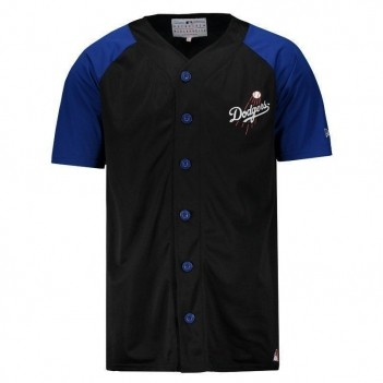 Camisa New Era MLB Los Angeles Dodgers Preta e Azul
