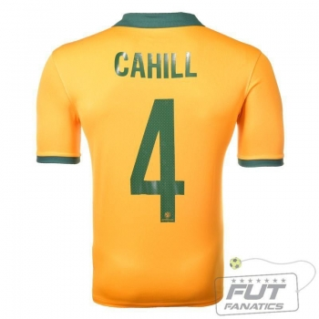 Camisa Nike Australia Home 2014 Cahill 4 Matchday