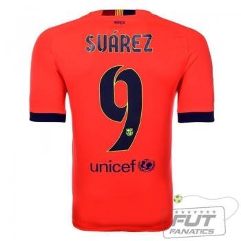 Camisa Nike Barcelona Away 2015 9 Suarez