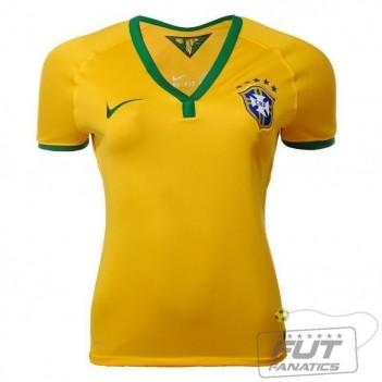 Camisa Nike Brasil I 2014 Feminina