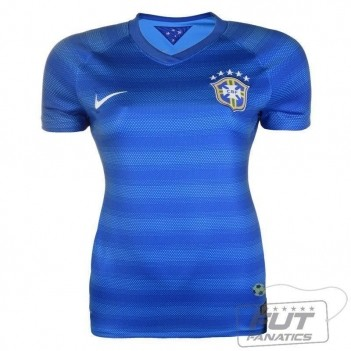 Camisa Nike Brasil Away 2014 Feminina